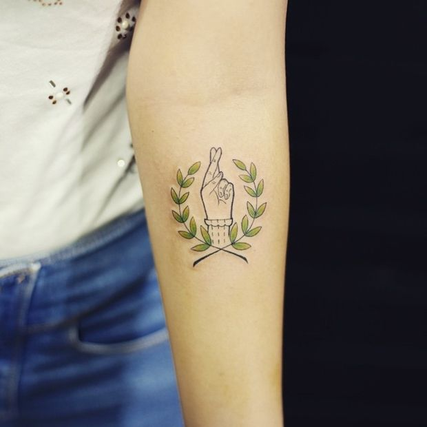 laurel wreath tattoo-37