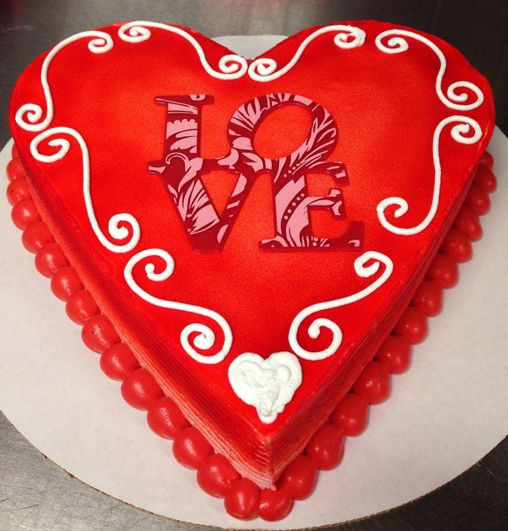 Valentine S Day Dq Ice Cream Cake With Quot Love Quot Deco My