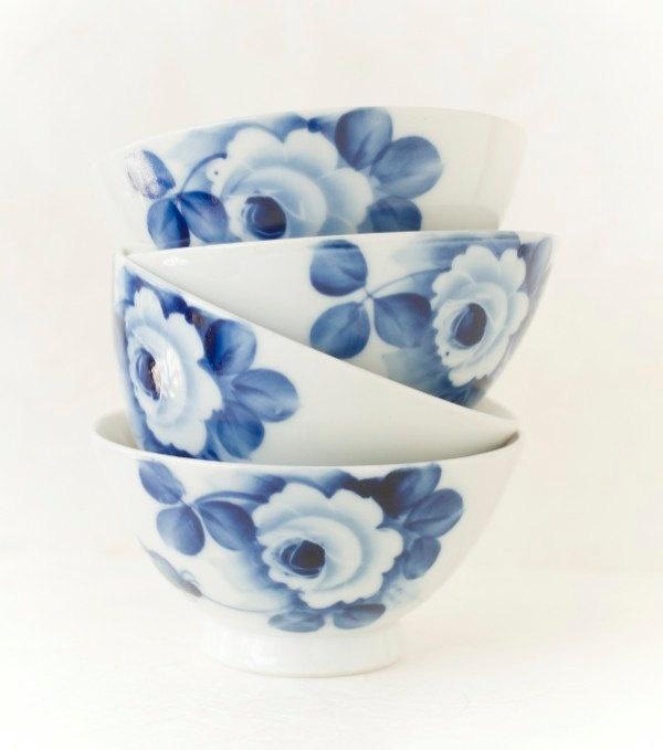 : Rice Bowls, Chawan Rice, Vintage Blue, Bowls Rose, Porcelain Rice, Porcelain Chawan, Mrs White Mr Blu, White Porcelain, Blue And White