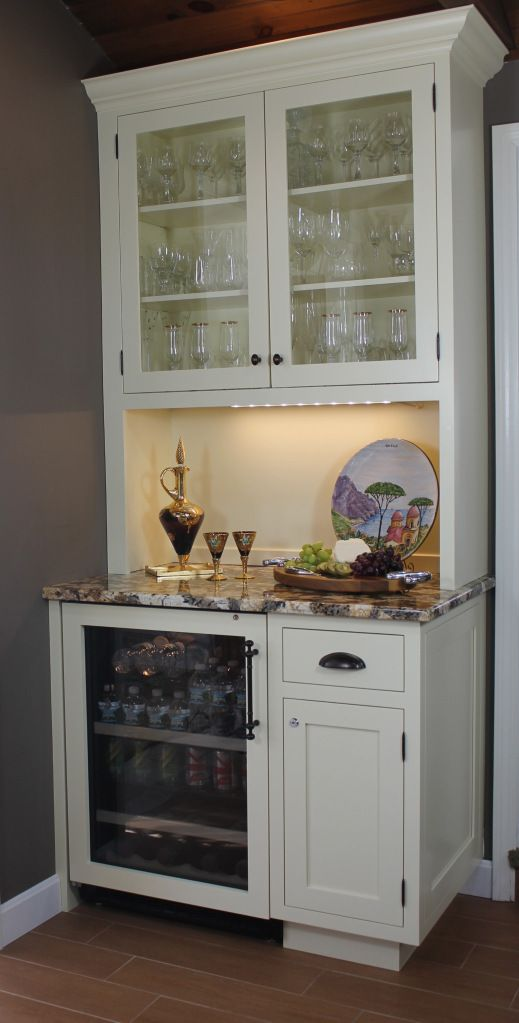 Turn Kitchen Desk Into A Wine Bar (or Coffee Bar Also?) Use Our Existing  Wine Fridge