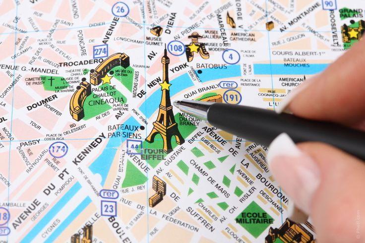 parijs kaart bezienswaardigheden - Google zoeken