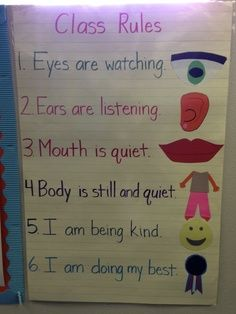 Kindergarten Class Rules @Angela Gray Gray Gray Gray Angers | best stuff