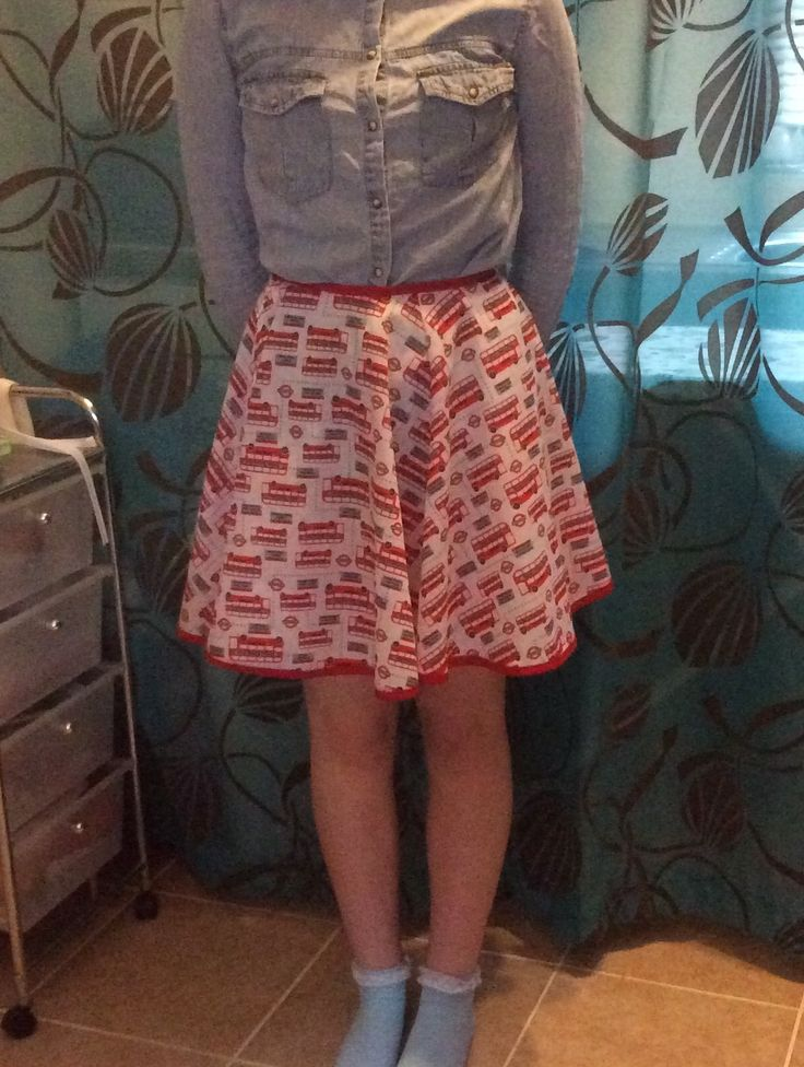 Finally found the time to make myself a wonderful circular skirt. I love the bus fabric so much.