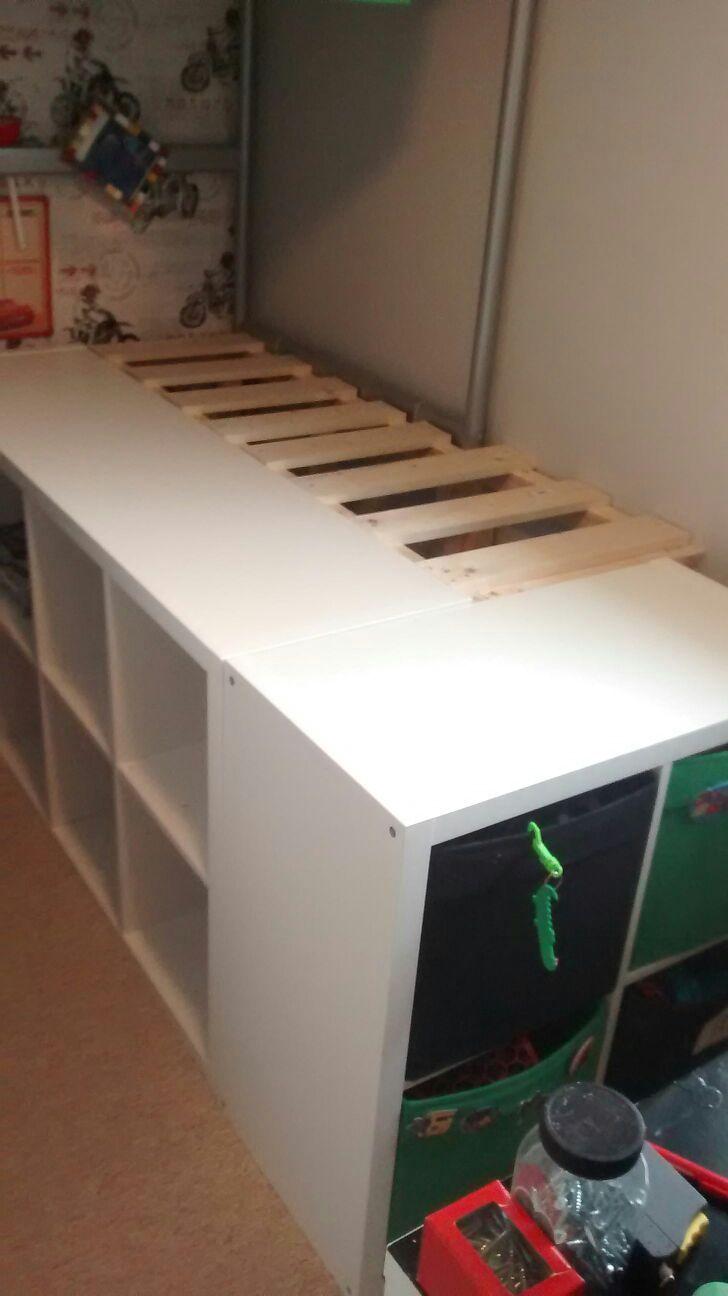 Ikea hack Kallax bed