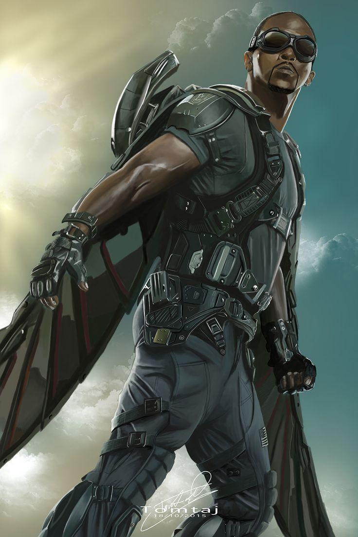 Falcon #Captain America by Tomtaj1.deviantart.com on @DeviantArt