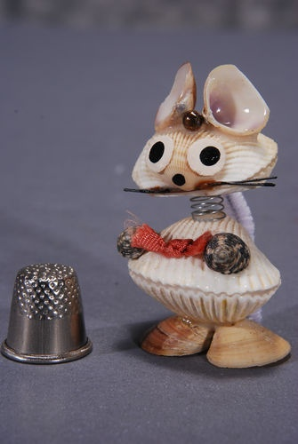 Sea Shell Mouse Bobblehead Doll Hand Made from Real Shells in Japan   eBay
