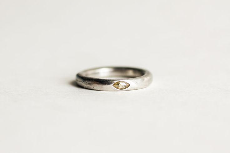 3 200 00 Minimal And Clic With A Single Rose Cut Ethical Yellow Diamond Band Works