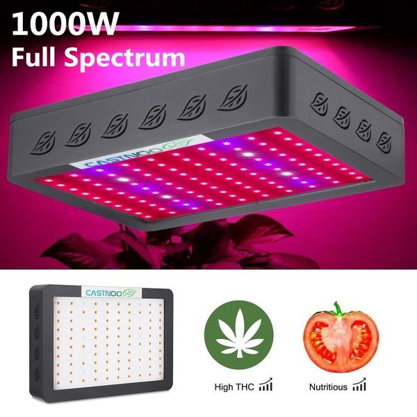 Castnoo 1000w Led Grow Light Full Spectrum Indoor Hydro Veg Flower Grow Panel Led Grow Lights Led Grow Grow Lights