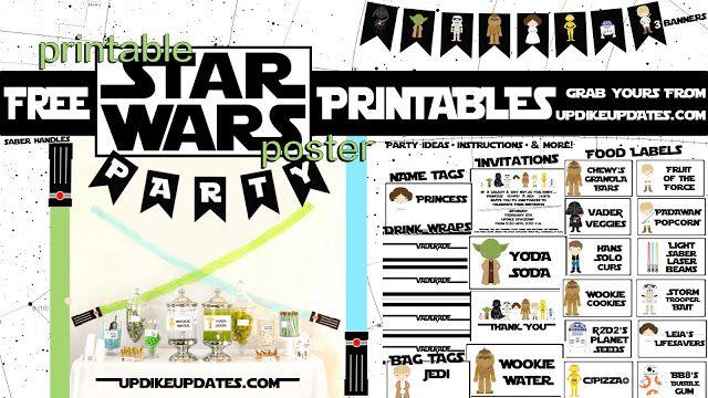 gorgeous free star wars party printables