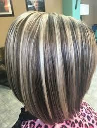 Resultado de imagen para golden blonde highlights on gray hair