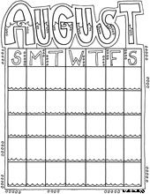 12 best Month coloring images on Pinterest | Monthly calendars ...