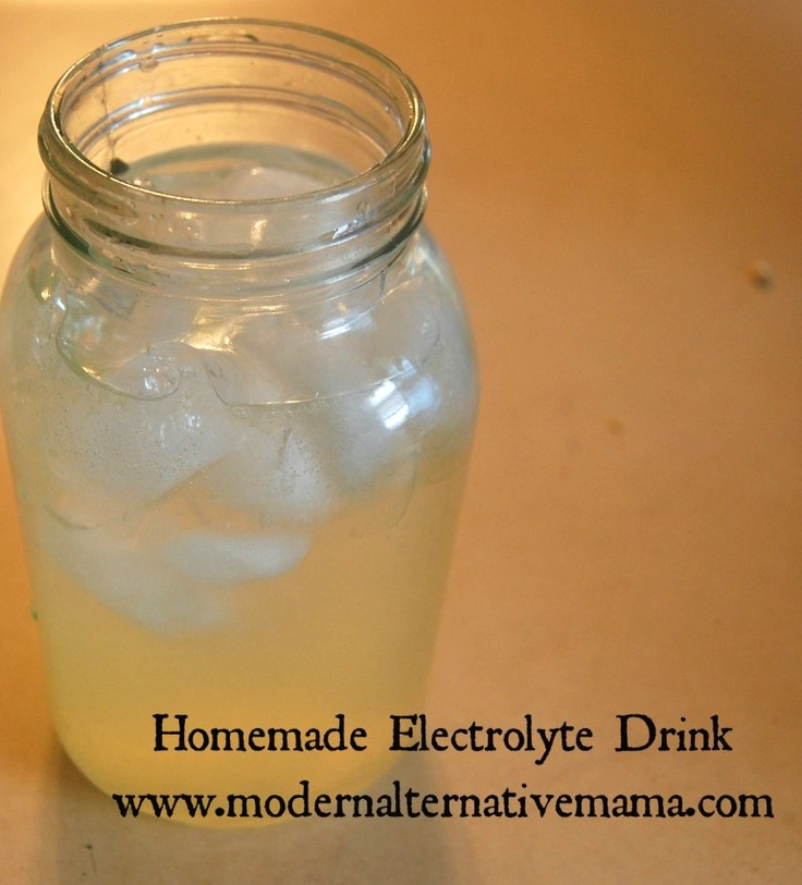 Homemade Gatorade. With the ginger this is very good for an upset stomach