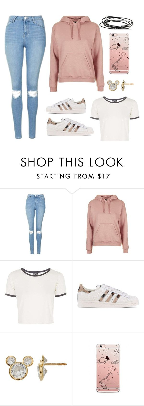 """Untitled #229"" by vixxtoxic ❤ liked on Polyvore featuring Topshop, adidas Originals, Disney and Kevin Jewelers"