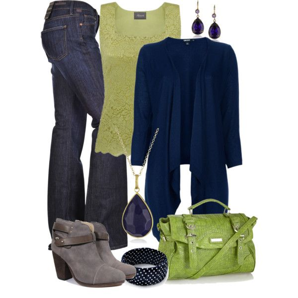 Fall/Winter Navy & Green love the color combo! Very unexpected.