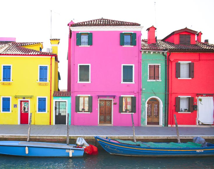 Burano Island Venice checkout out my pictures on my blog of the perhaps the most bright and colorfully place on earth, every building, home and business in this island town well maybe village is a different bright color, all different hues from yellow to pink throught to red!