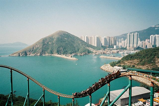 Hong Kong Island. Looked at this exact view many times from the roller coaster. Stunning!
