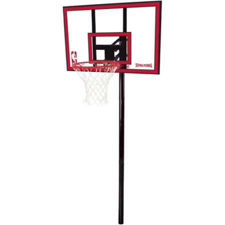 "Spalding 88351 44"" Polycarbonate In-Ground Basketball System"
