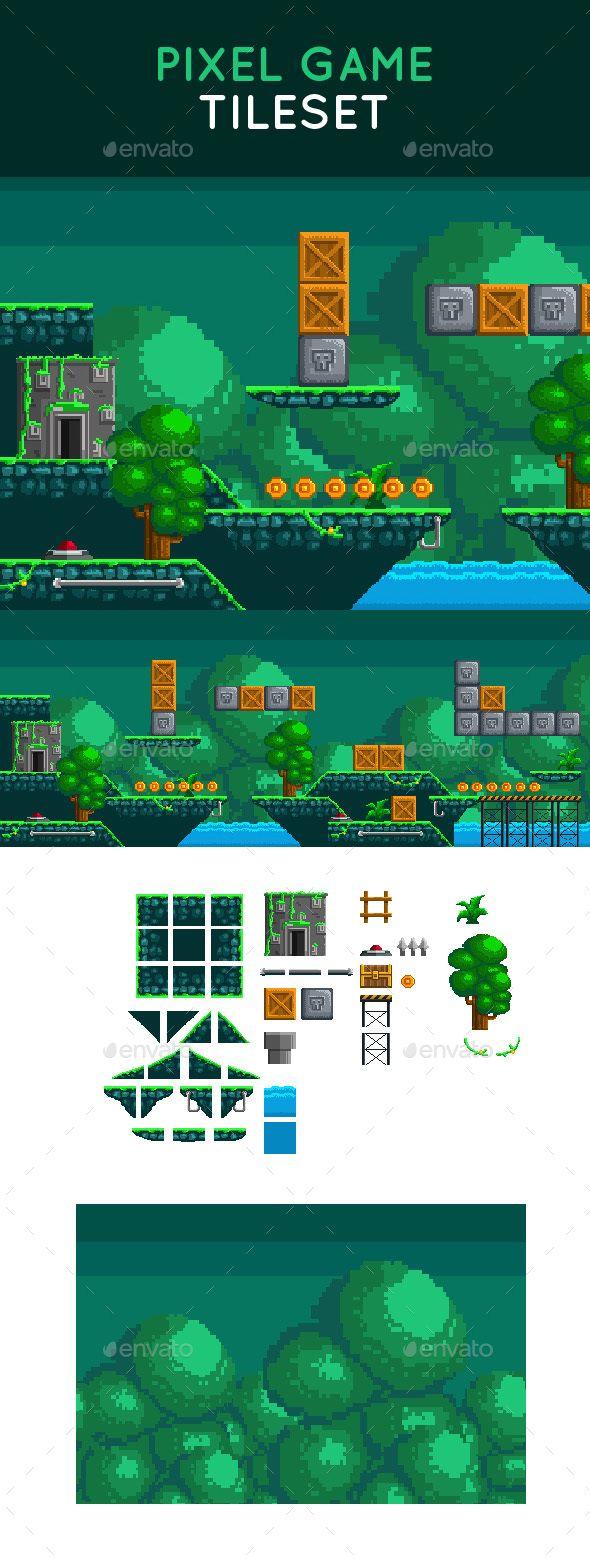 Pixel Game Tileset - Tilesets #Game Assets