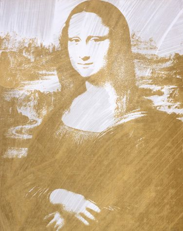 Mona Lisa, ca. 1979 | Andy Warhol (American, 1928-1987) |   Acrylic and silkscreen ink on canvas  25 x 20 in. (63.5 x 50.8 cm.)  The Andy Warhol Museum, Pittsburgh