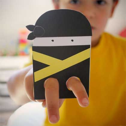 Ninja and Ballerina Paper Finger Puppets... Use these for beginning piano lessons on the groups of 2 black keys or for walking up the keyboard. Teaches students to play on the tips of their fingers instead of with flat hands. You could even make it into a game with two ninjas.