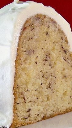 Banana Cake with Cream Cheese Icing ~ super-simple and moist.