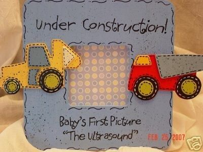 Ultrasound Picture Frame Trucks by cutelittlethings4kid on Etsy, $20.00
