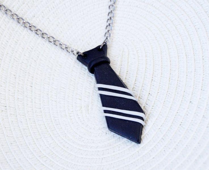 Striped tie necklace by ~lemondemon on deviantART