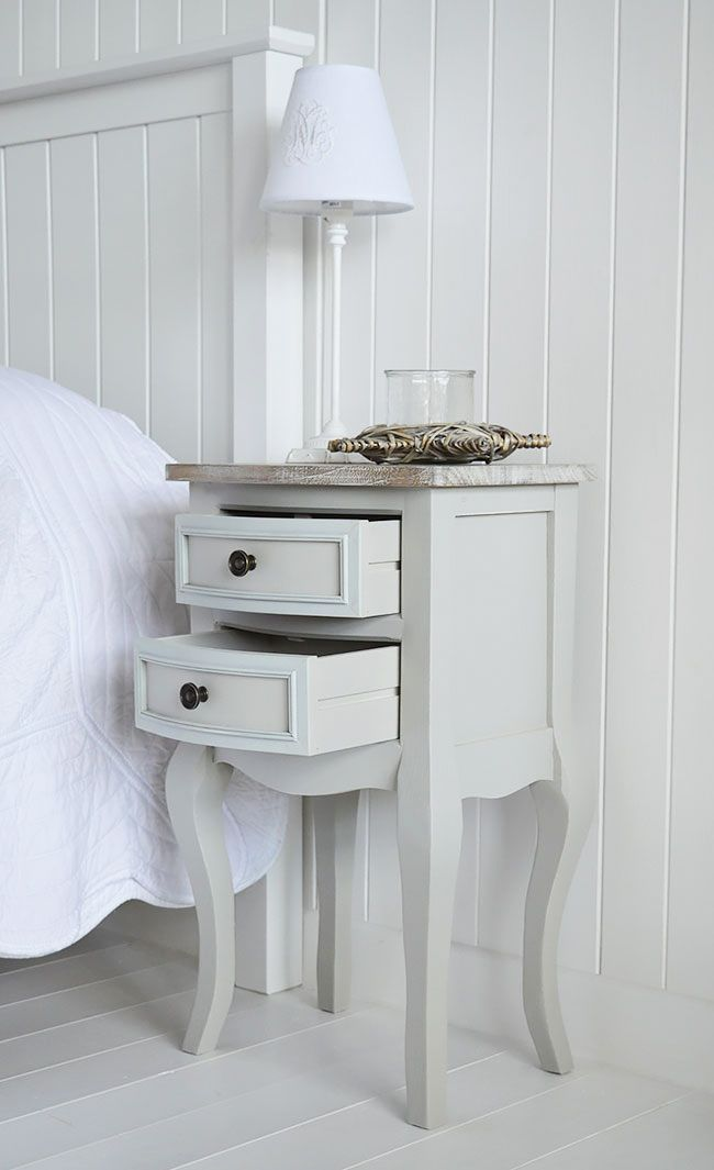 The White Lighthouse Furniture Bridgeport Grey Lamp Table With