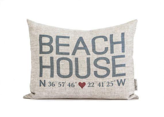 Strandhaus koordiniert, Kissen, Housewarminggeschenk, Home Away From Home, Geschenk für ihn, Geschenk für sie, Rustic Home Decor, dekorative Kissen