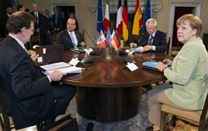Los líderes de Europa debaten la mala situación actual de España.  A una semana de la cumbre europea del 27 y 28 de Junio, los líderes europeos han avanzado en la reunión de hoy en Roma que la estabilidad de los mercados es su principal preocupación.    Los líderes de las cuatro potencias más influyentes a nivel europeo han hecho sus propuestas centrándose en todo momento.  http://www.cambio-divisas.net/los-lideres-de-europa-debaten-la-mala-situacion-actual-de-espana230612/