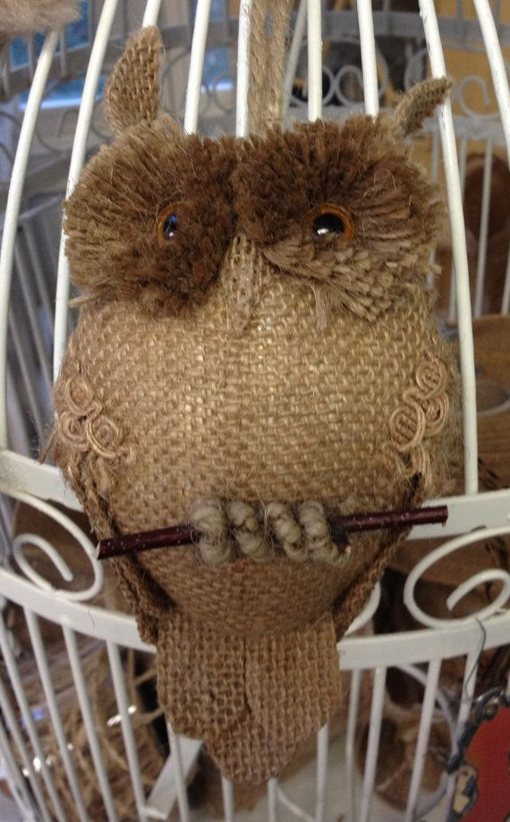 Hey, I found this really awesome Etsy listing at https://www.etsy.com/listing/155905846/burlap-owls-adorable-supply-for-altered