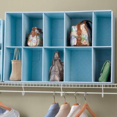 Park-A-Purse Closet Purse Organizer - Storage Ideas for Closets