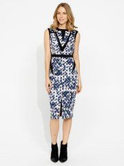 Ikat Print Spliced Dress