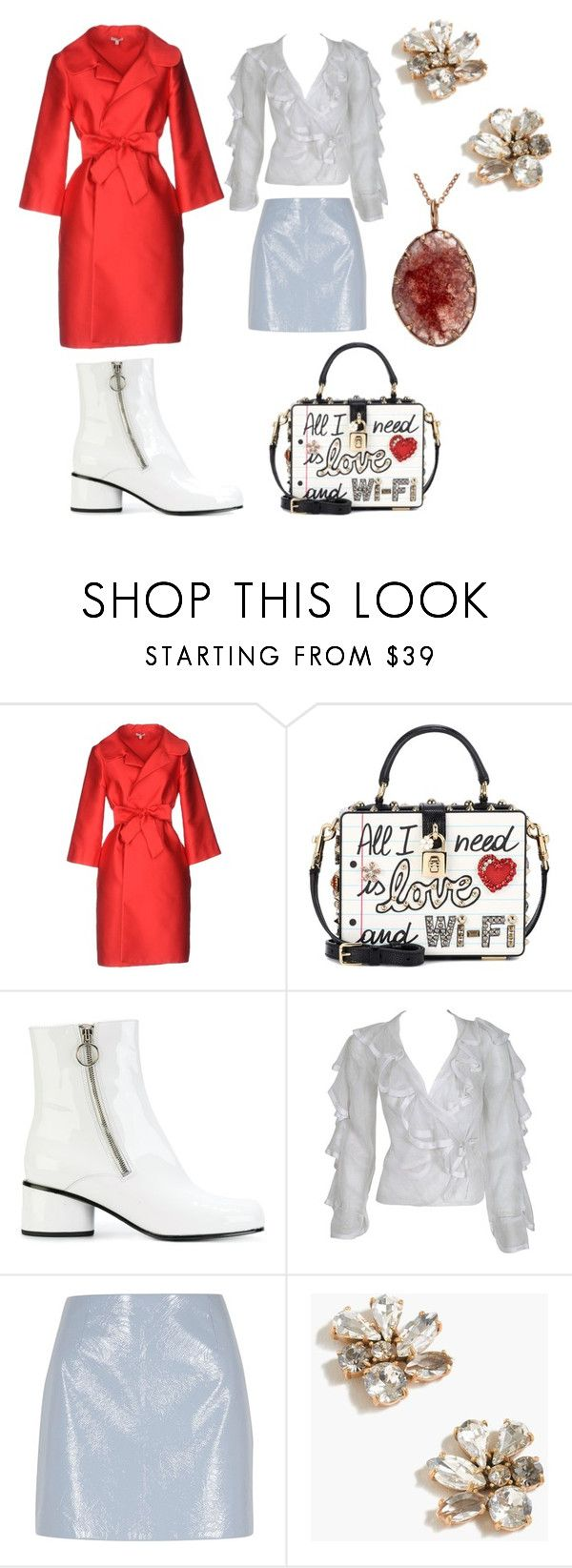 """Untitled #1438"" by aqualyra ❤ liked on Polyvore featuring P.A.R.O.S.H., Dolce&Gabbana, Marc Jacobs, Ossie Clark, River Island and J.Crew"