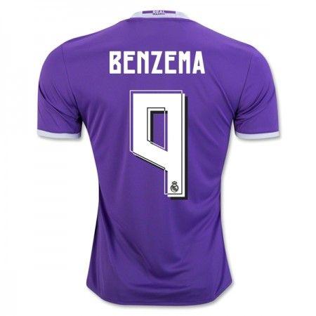 Real Madrid 16-17 Karim #Benzema 9 Udebanesæt Kort ærmer,208,58KR,shirtshopservice@gmail.com