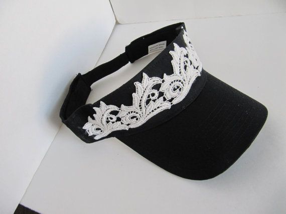 Black Sun Visor Women's Visor Bling Visor Sun by TheApicellaEdge