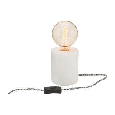 Lampvoet marmer - wit - 13 cm