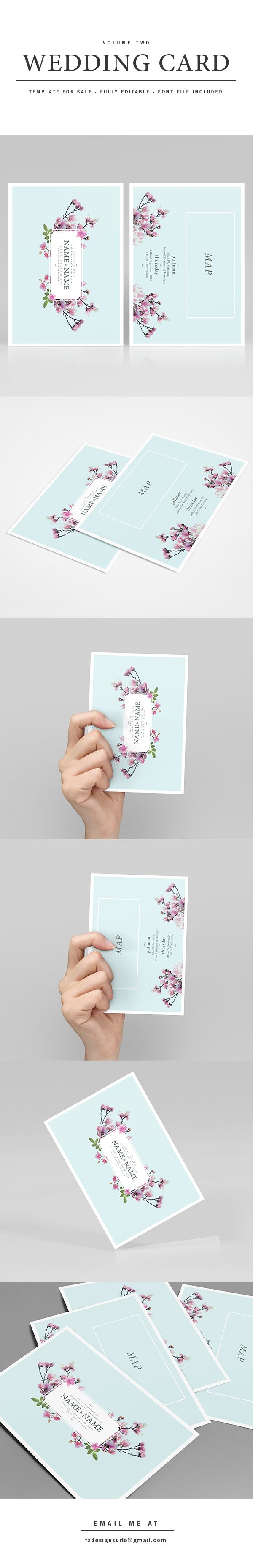 (FOR SALE) Wedding Invitation Template - Volume 2 by Faridz Design Suite, via Behance