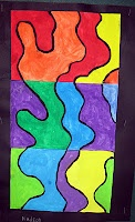Wavy lines with different color schemes-sub lesson