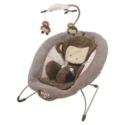 Fisher-Price Deluxe Bouncer - My Little SnugaMonkey - $64.99 But ANY bouncy chair will do, preferably awesome, safe and USED by you ;))