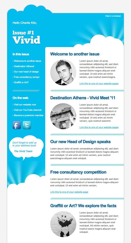 design a newsletter online free