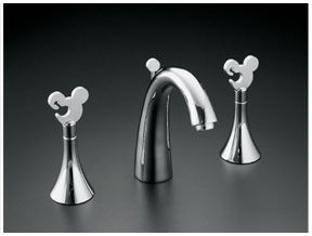 For a MM Bathroom/Kitchen makeover - LOVE THESE.  Mickey Mouse sink handles.