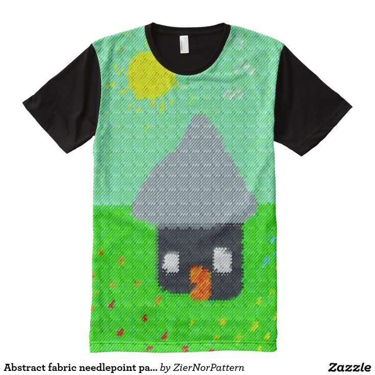 Abstract fabric needlepoint pattern All-Over print t-shirt