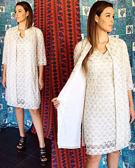 Brocade dentelle robe costume des années 60 par ShannonMyIndi
