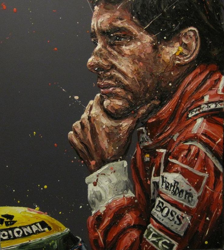 Ayrton Senna painting - www.formula1art.com