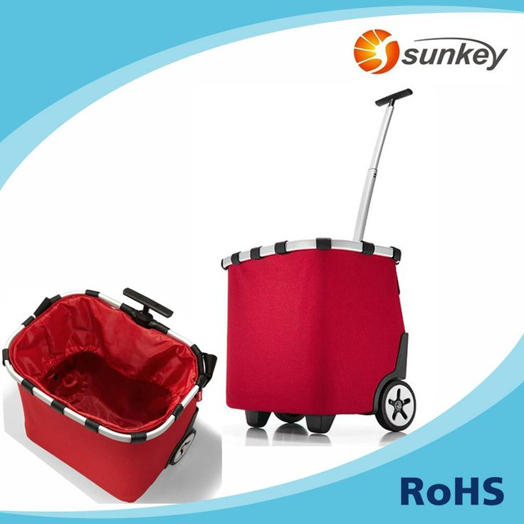 Wheeled shopping trolley cart