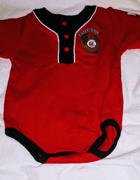 0530a2081 Boys Chicago Cubs MLB Baseball Baby One Piece Infant Outfit Size 6 9 ...