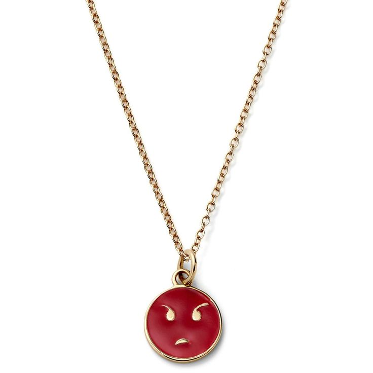 Small Angry Face Emoji Necklace