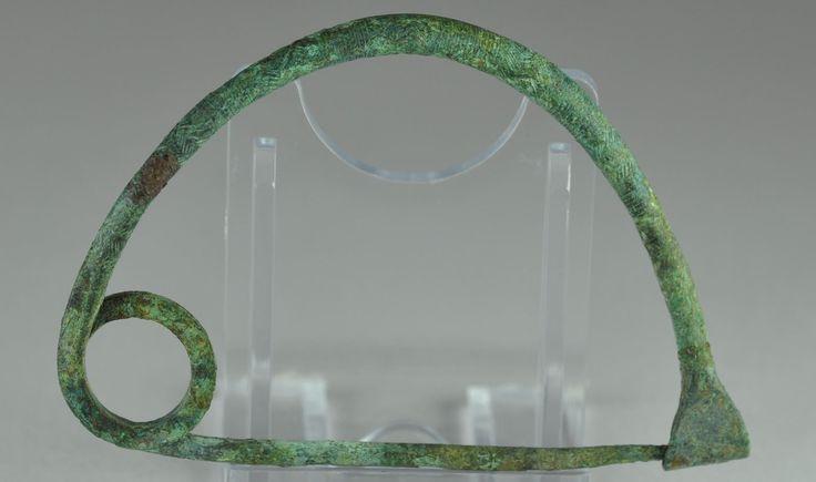 Etruscan bronze fibula, 7.6 cm long. Private collection