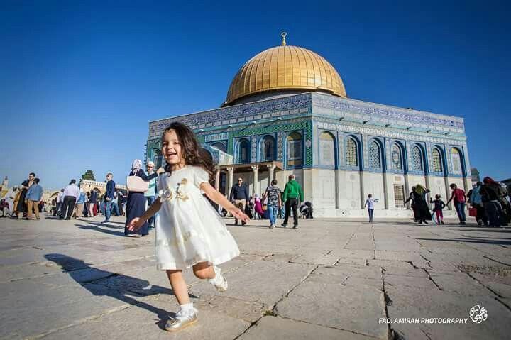 #Little #girl #playing in the #morning of the first day of #Eid adha #mubarak #happy #Eid #adha #littlegirl #Palestine #Jerusalem  #free #palestine #jeruselem #al_aqsa #falastine #فلسطين# #القدس #قبةالصخرة# #الاقصى  #free #palestine #jeruselem #al_aqsa #falastine